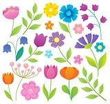 Stylized flowers topic set 1