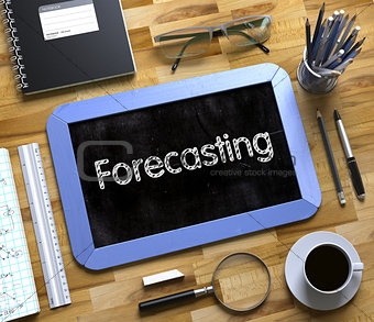 Forecasting on Small Chalkboard. 3d.