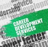 Career Development Services on White Brickwall.
