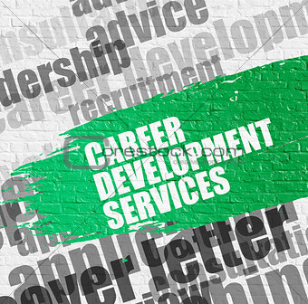 Career Development Services on White Brickwall.