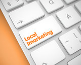 Local Imarketing - Text on the White Keyboard Button. 3D.