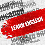 Learn English on Brick Wall.