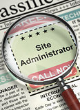 Job Opening Site Administrator. 3D.