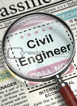 Civil Engineer Join Our Team. 3D.