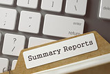 Folder Index with Summary Reports. 3d.