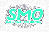 Smo - Doodle Green Word. Business Concept.