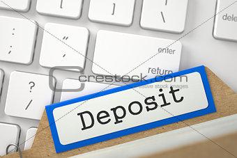 Folder Register with Deposit. 3d.
