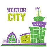 Vector city banner