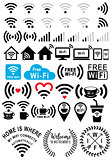 Wi-fi signs, vector set