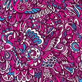 doodle pattern floral background