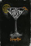Cosmopolitan cocktail chalk color