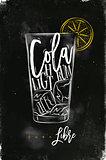 Cuba libre cocktail chalk color