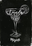 Margarita cocktail chalk