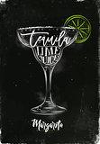 Margarita cocktail chalk color