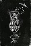 Pina colada cocktail chalk