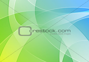 Abstract blue and green colorful wavy background