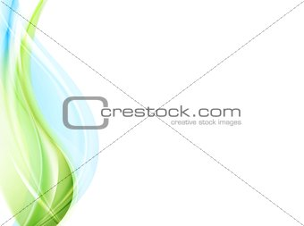 Abstract elegant green blue waves