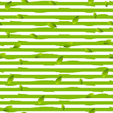 Grunge stripes and summer leaves vector background