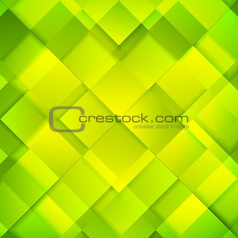 Abstract bright green squares background