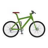 Bicycle icon on white background.