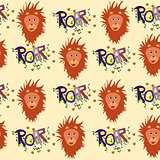 Nice seamless lions pattern for kids