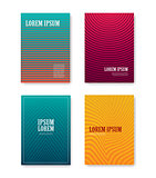 Minimal abstract covers gradients design with linear and shapes