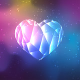 Low poly crystal heart