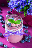 yogurt with blueberries and mint