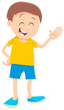 cute boy cartoon character