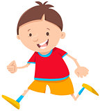 running boy cartoon character