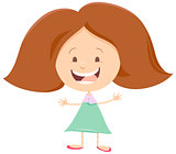 happy girl cartoon character
