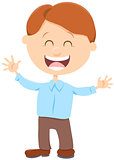 cheerful boy cartoon