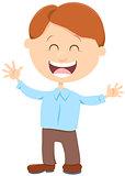 cheerful boy cartoon