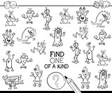 one of a kind game coloring page