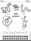 calculating game coloring page