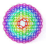 Colorful concentric circles made of chain