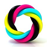 CMYK abstract circular sign