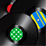 Vinyl records square background