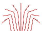 Drinking straws isolated on a white background. 3D