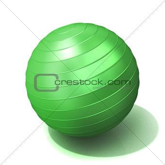 Green fitness ball
