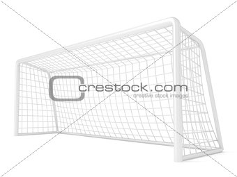Football - soccer gate. 3D