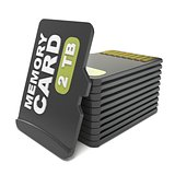 Memory micro sd card stack. 3D