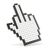 Cursor middle finger. 3D