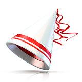 Party hat. 3D