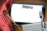 Tablet Computer for Food Menu