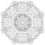 Mandala for coloring. Vector decorative zentangle object