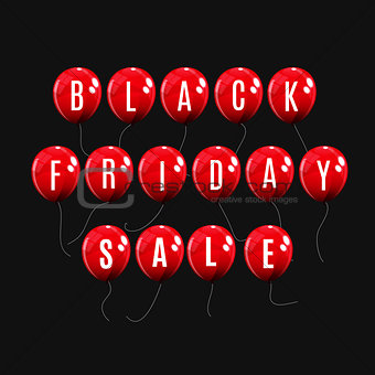 Black Friday Sale Balloon Concept of Discount. Special Offer Tem