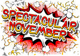 Spectacular November - Comic book style word