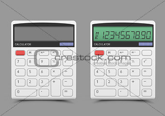 On off white calculator
