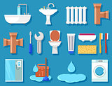 plumbing icons for bathroom